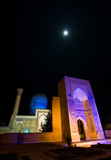 Gur Emir Mausoleum at night, Samarkand, Uzbekistan poster