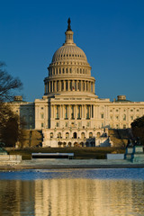 US Capitol Building in the late afternoon