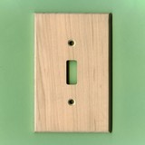 Light Wood Switch Plate