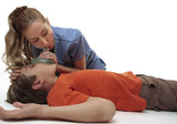 Resuscitating unconscious boy poster