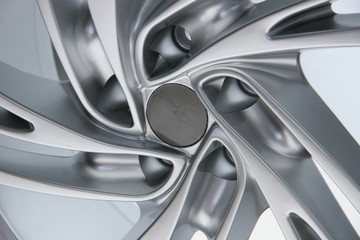 Close up wheel of a sports car