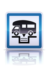 Panneau de signalisation vidange camping-car (reflet métal)