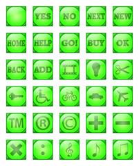 Bottoni verdi con riflesso 2