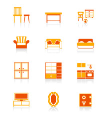 Model home furniture icons | JUICY series