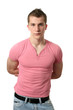 Sexy Man in a Pink Shirt