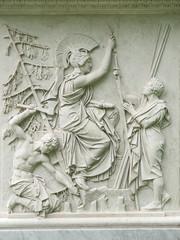 berlin, flachrelief von apollo, staatsoper unter den linden