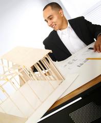 Designer Building A House Model