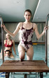 People enjoying a spa pool
