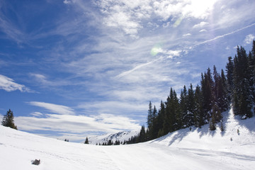 Snowy mountain winter landscape, Jahorina, Republika Srpska, Bos