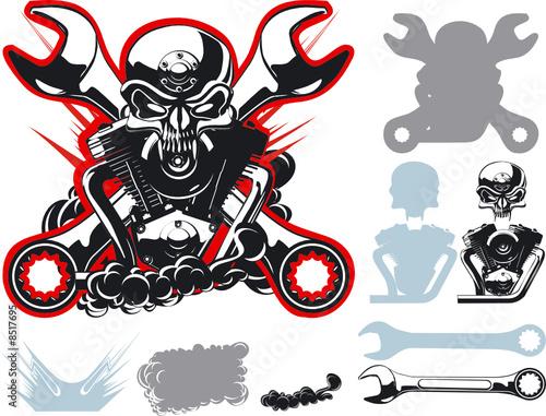 Vector bykers simbols set - 8517695