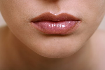 Beauty shot of woman's lips