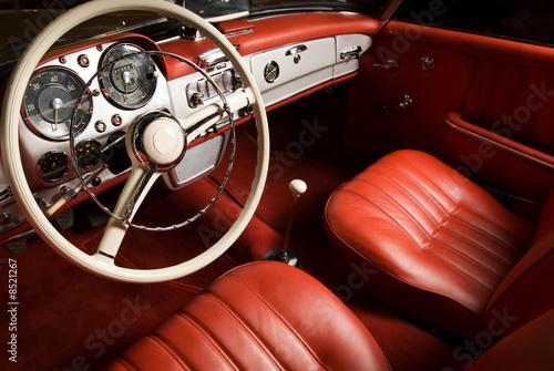 Foto op Plexiglas Vintage cars Luxury car interior