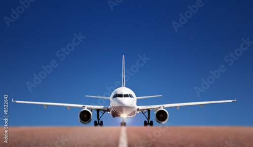 canvas print picture Airbus on runway