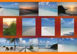 patchwork des iles maldives poster