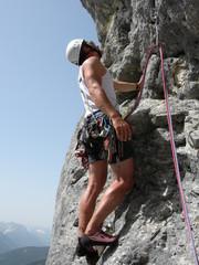Klettern in Gebirge
