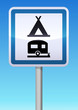 Panneau de signalisation camping caravaning