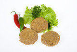 Cutlets With Greenery And Pepper poster