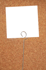 Blank card with brown blurry background