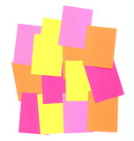 post-it memo isolated on white poster