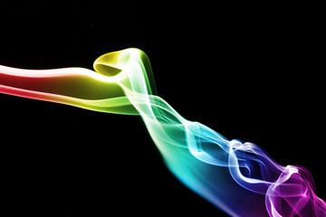 Streams of a smoke colour