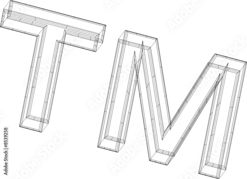 Trademark Symbol in Wireframe