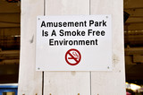 Amusement Park in A Smoke Free Environment Sign poster