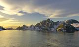 Lago glaciale al tramonto poster