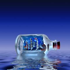 Flaschenschiff Buddelschiff