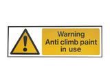 A Warning Sign for Anti Slip Paint. poster