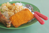 Local Asian Hawker Mixed Rice Food Fare poster
