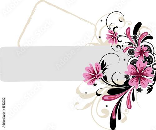Leinwanddruck Bild Floral background