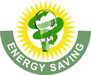Light bulb energy saving symbol