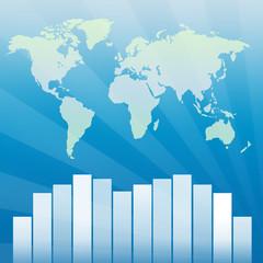 statistiques mondiales bleues