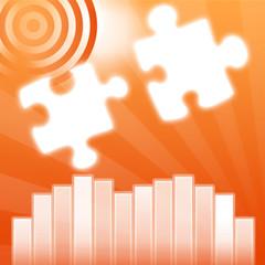 statistiques puzzle orange
