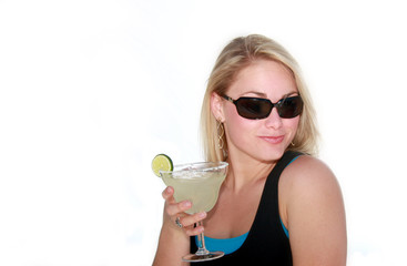 Young Woman with Margarita