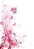 Różowy florystyczny ornament - 8567885
