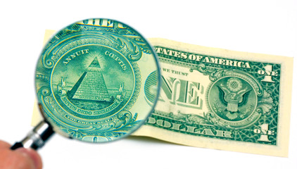 Masonic symbol, Eye of Providence on dollar banknote