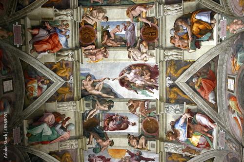 Leinwanddruck Bild chapelle sixtine