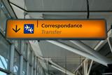 Aéroport - Correspondance poster