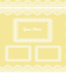 Lace Scrapbook insert, Frames and Background Page