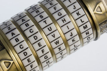 devil - a password set on a combination puzzle box or lock