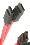 SATA cable red closeup poster