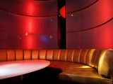 Nightclub interior poster