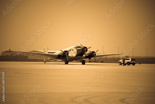 Zdjęcia na płótnie, fototapety, obrazy : Ju 52 in Leipzig