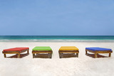 beachchairs in different colors