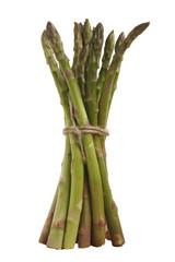 bunch of fresh asparagus isolated