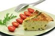 Asparagus quiche slice