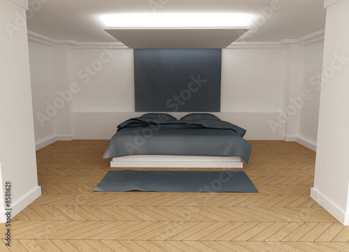 Grey Bedroom 01