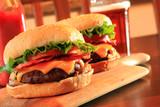 Fototapety Bacon cheeseburgers