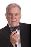 older businessman with gun - james bond impersonation LOL poster